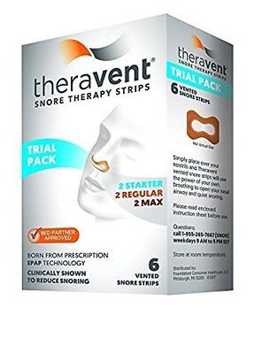 Theravent Snore Therapy Strips Trial Pack, 6 Strips each (Pack of 8)