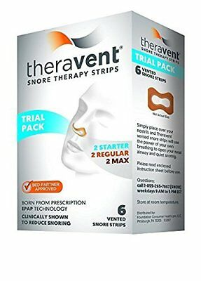 Theravent Snore Therapy Strips Trial Pack, 6 Strips each (Pack of 2)