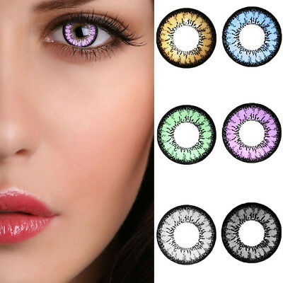 1 Pair Colored Contact Lenses Women Beauty Cosmetic Charming Eye Makeup Bello