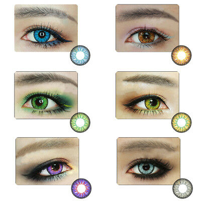 1 Pair Unisex Big Eye Makeup Charming Colored Contact Lenses Beauty Tool Bello