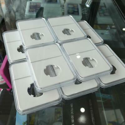 10 x 20.5mm Coin Slabs Suits Two Dollar, White Insert Clear Display, Aussie S...