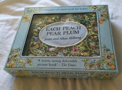 Each Peach Pear Plum - Soft Cloth Book - New Boxed