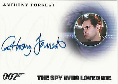 "James Bond Archives 2015 - A275 Anthony Forrest ""Bomb Disposal"" Autograph Card"