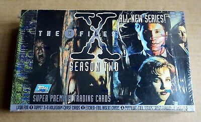 "Topps ""the X-Files Season Two""  Sealed Box Of 36 Packs Of Trading Cards"