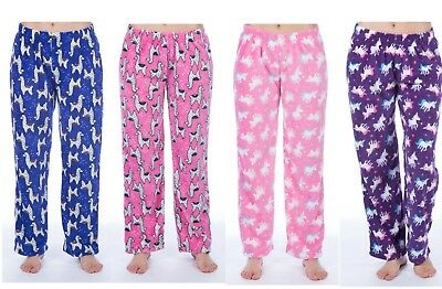 Girls  Fleece Lounger Pants Girls Pyjama Bottoms Kids Soft Trouser Pyjamas 5-13