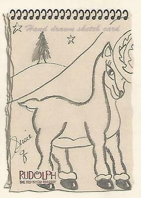 Rudolph The Red-Nosed Reindeer & the Misfit Toys - Susie Q Sketch Card