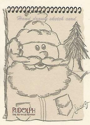 """Rudolph The Red-Nosed Reindeer - """"Santa Claus"""" Susie Q Sketch Card (a)"""