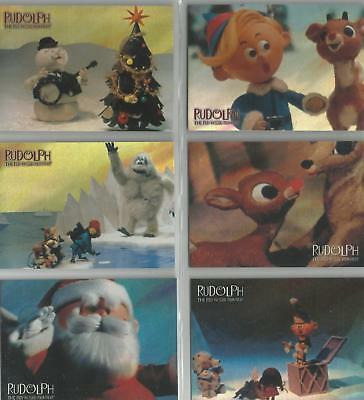 """Rudolph The Red-Nosed Reindeer - """"Holofoil Cartoon"""" 6 Card Chase Set #C1-6"""