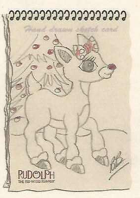 """Rudolph The Red-Nosed Reindeer & the Misfit Toys - """"Clarice"""" BB Sketch Card"""