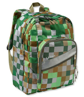 32408a1ada New in package   LL Bean deluxe book pack   backpack   green pixel print