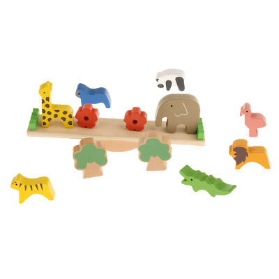 Baby Toddler Wooden Montessori Toy Forest Animal Balancing Toy Birthday Gift