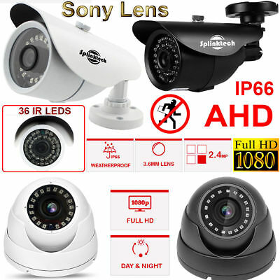 Sony 1080p Full HD 2.4MP CCTV Bullet Dome Camera AHD CVBS Analog Night Vision UK