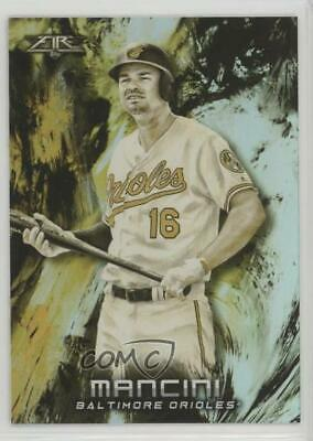 2018 Topps Fire Gold Minted #82 Trey Mancini Baltimore Orioles Baseball Card