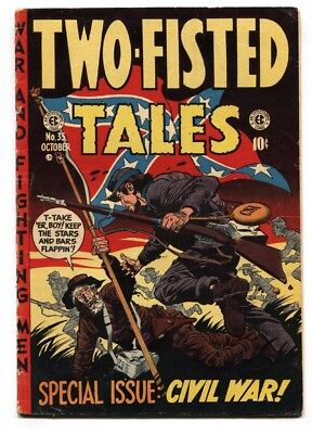 Two-Fisted Tales #35 1953- Davis cover- EC golden age war VG