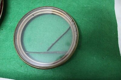 Old French clock bezel & glass. 122.mm hole size