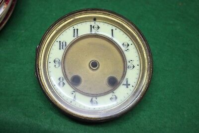 Old French clock bezel, dial & glass. 112.5.mm hole size
