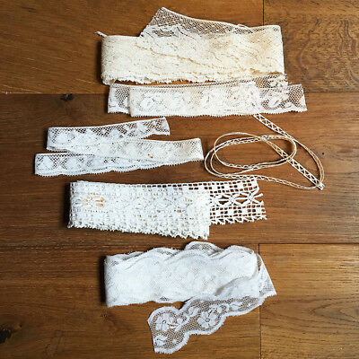 Lot de Galon Dentelle Ancienne Blanche - Antique French Lace