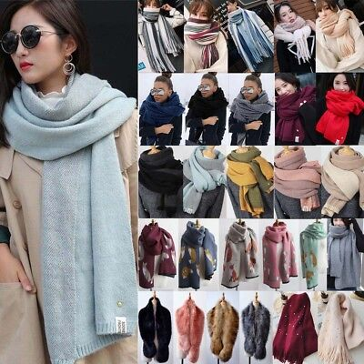 Women's Scarf Oversized Long Scarves Warm Winter Wrap Shawl Blanket Stole Lot