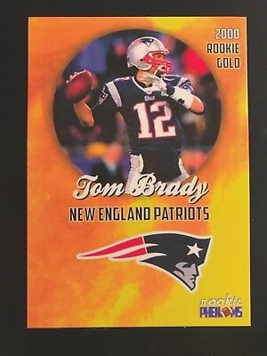🔥tom Brady 2000 Rookie Phenoms Gold Rare Only 2000 Made 🔥