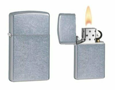 Zippo Slim Street Chrome Finish Lighter, USA Genuine Windproof USA #1607