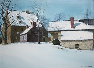 MILDRED SANDS KRATZ-NY/PA AWS Realist-Original Signed WC-Winter Landscape