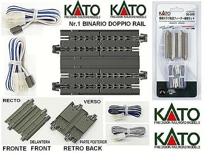 KATO binary POWER SUPPLY DOUBLE mm.62 with roadbed and 2 CABLES-VIE LADDER-N