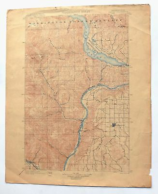Chelan Washington Antique 1901 USGS Topo Map Cashmere Waterville Topographical