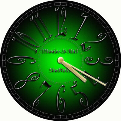 NOVELTY WALL CLOCK - Gothic Green and Black Design (3) - Decorative Wall Clock