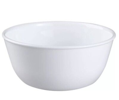 Corelle Livingware Winter Frost White 28 Ounce Soup / Cereal Bowl (Set of 4)