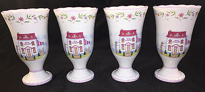 THE LENOX VILLAGE FOOTED PARFAIT ICE CREAM CUP PORCELAIN MINT COND FREE SHP Qty