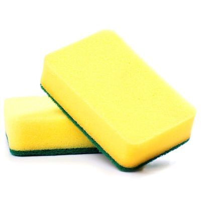 2X(Kitchen sponge scratch free, great cleaning scourer (included pack of 10) 2*
