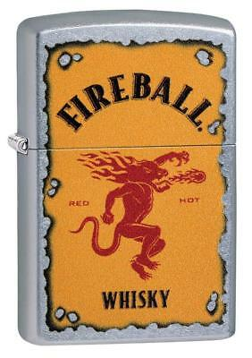 Zippo Fireball Whisky Lighter With Fireball Logo, 29852, New In Box