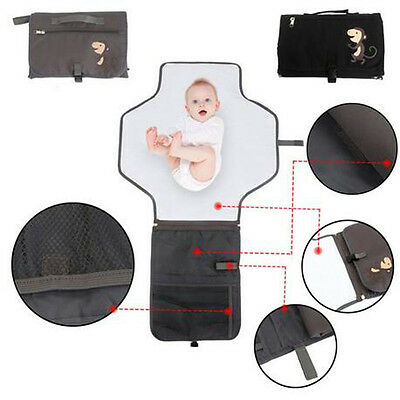Waterproof Baby Infant Portable Diaper Mat Changing Pad Storage Bag Bedding Kit