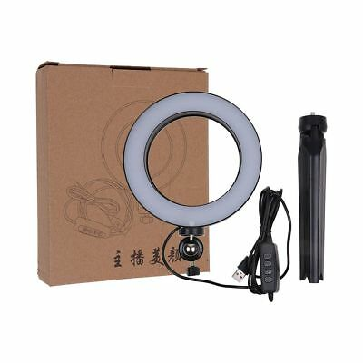 "6"" Dimmable LED Studio Ring Light Photo Video Lamp W/ Stand For Camera & Phone"