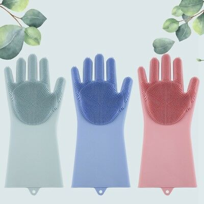 Magic Silicone Cleaning Brush Scrubber Gloves Heat Resistant Unisex Right Hand