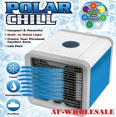 AU NEW Portable Mini Air Conditioner Cool Cooling For Bedroom Cooler Fan
