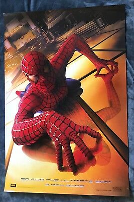 Spider-Man 02 Original (Ds) Double Sided Movie Poster Rolled 27X40 Tobey Maguire