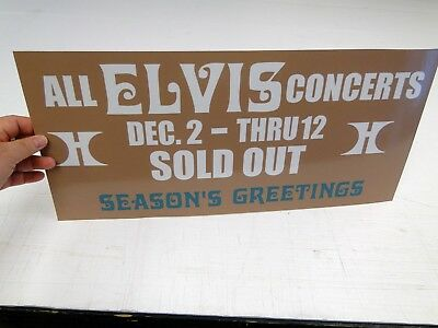 ELVIS Sold Out VEGAS '76 Hilton Hotel Box Office Banner Sign Pennant v4