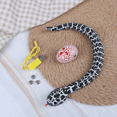 Snake toy rechargeable remote control real looking black HU