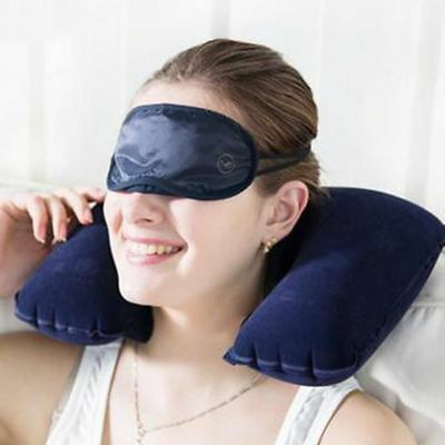 Rest Air Cushion For Travel Inflatable U-Shaped Folding Head Neck Car Pillow New