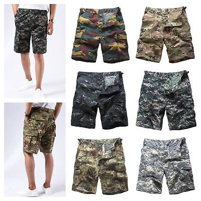 Mens Army Military Combat BDU Shorts Casual Fashion Camo Cargo Shorts