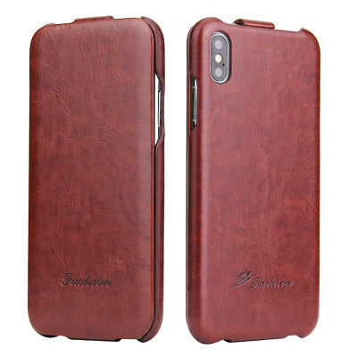 Luxury Vertical Flip Leather Case Ultra Slim Cover For iPhone 8 Plus XS MAX XR