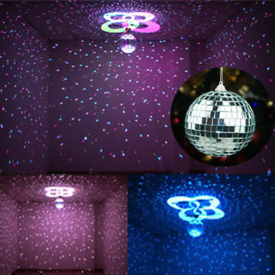 100mm Mirror Glass DiscoBall DJ Dance Home Party Band ClubStage Lighting Kit NEW