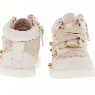 RIVER ISLAND Pink Studded High Top Trainers Girls Trainers Christmas Gift 5 INF