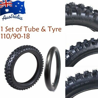 """90/100-18""""  3.00-18 inch Knobby Rear Tyre Tire & Tube for Dirt Bike Motorcycle"""