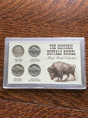 The Historic Buffalo Nickel Mint Mark Collection 4-coin Set