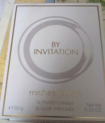 Michael Buble By Invitation Perfumed Scented Candle 180g