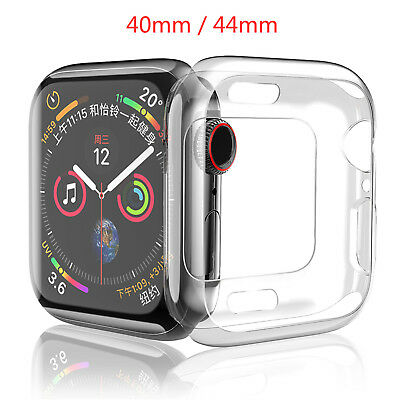 44/40mm Soft TPU Case For Apple Watch Series 4 Cover Clear Shell Protect Bumper