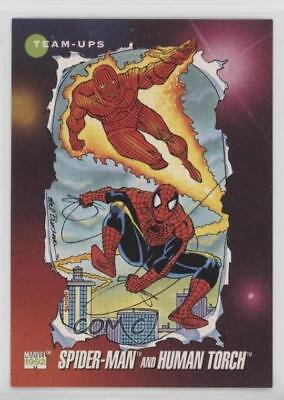 1992 Impel Marvel Universe Series 3 #71 Spider-Man Human Torch Card 1md