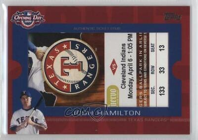2009 Topps Ticket To Stardom Opening Day Stubs #ODTS-JH Josh Hamilton Card